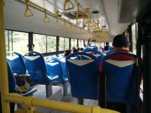 Inside the bus to Liberia